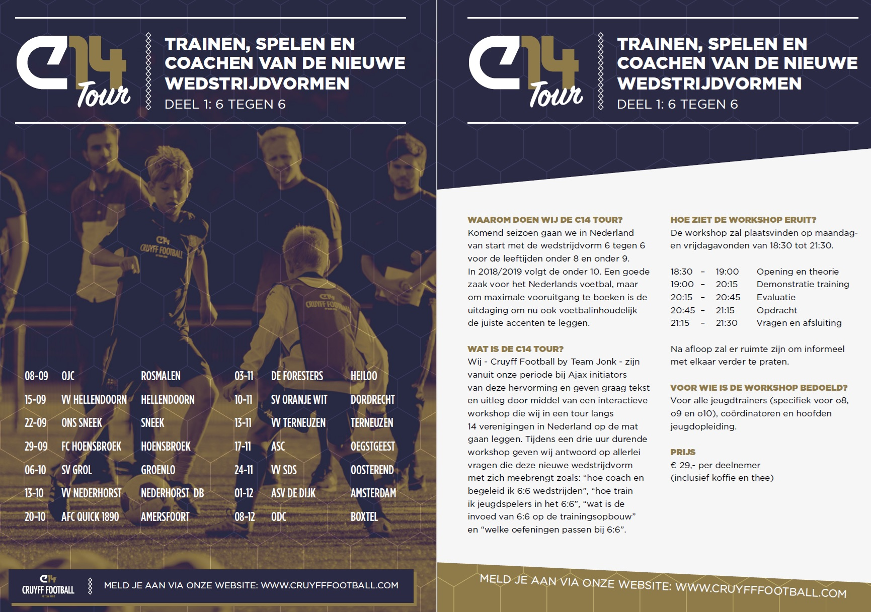 Cruyff Football: workshops over 6:6