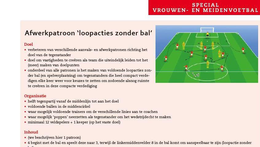 Trainingsvorm Ajax vrouwen (Benno Nihom)