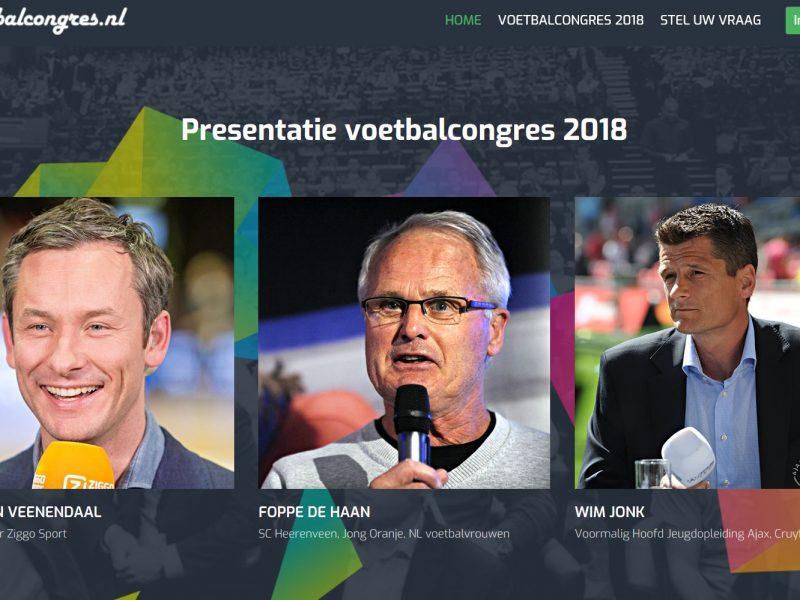 Foppe de Haan en Wim Jonk op voetbalcongres