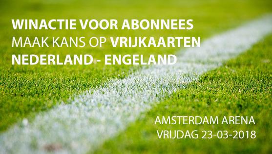 Winactie voor abonnees | vrijkaarten Nederland – Engeland