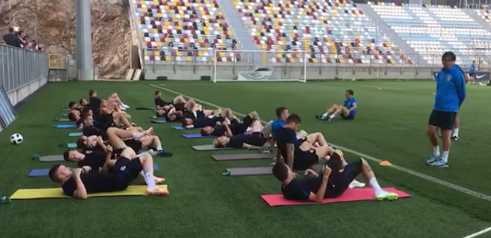 Trainingsvormen Kroatië tijdens succesvolle WK