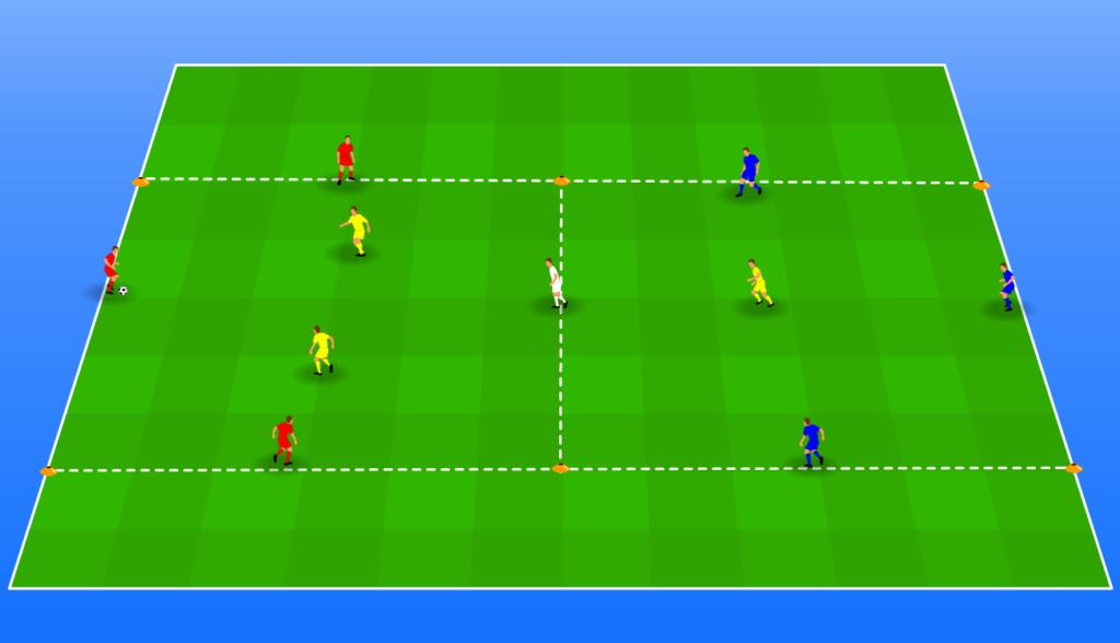 Positiespel warming-up wedstrijd
