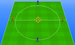 Oefenstof voor vier spelers op anderhalve meter afstand