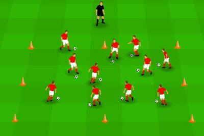 Ik en de bal: 12 trainingsvormen in een vierkant